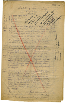 Teczka z dokumentami dot. bitwy warszawskiej 1920 r. / A file with documents on the Battle of Warsaw of 1920. (MHP-ARR 398/1-4)