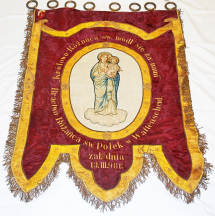 Chorągiew Bractwa Różańca św. Polek w Wattenscheid. XIX/XX w. / The flag of the Polish Confraternity of the Rosary in Wattenscheid. 19th/20th century. (MHP-WK 1)
