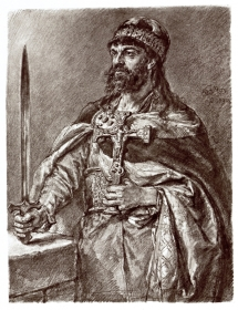 Mieszko I, Poczet królów i książąt polskich, Jan Matejko, NiNA / Mieszko I from The Gallery of Polish Kings and Princes by Jan Matejko